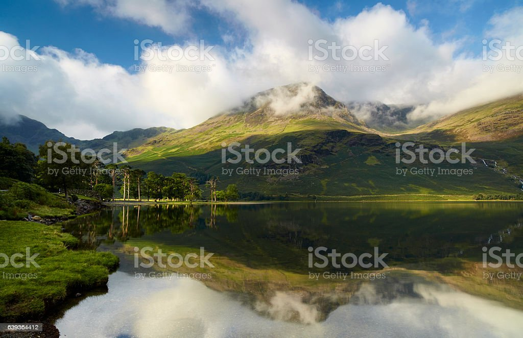 Lake Buttermere At Dawn stock photo