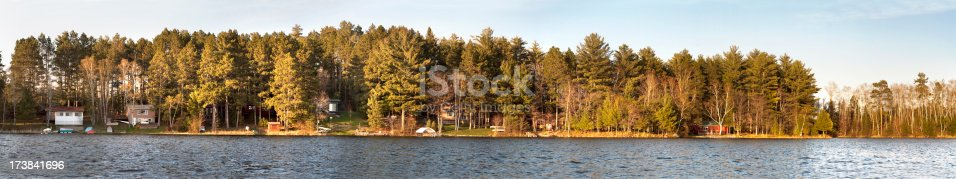 876420064istockphoto Lake Cabin panoramic 173841696