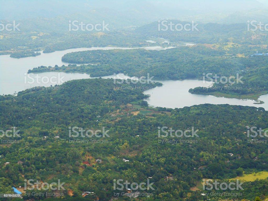 Lake Capture from Mountin stock photo