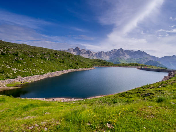 Lago di Cavia - Dolomites - Italy stock photo