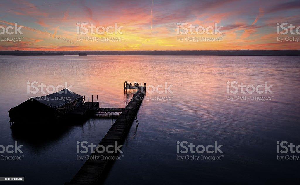 Lake Cayuga Sunrise stock photo