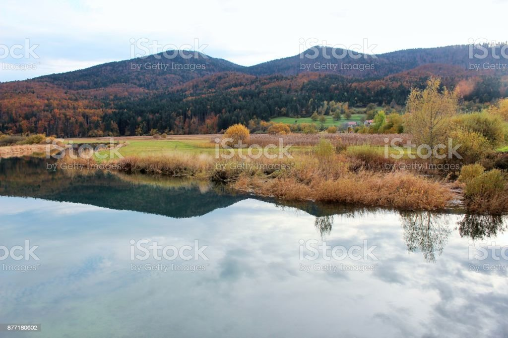 Lake Cerknica, Slovenia stock photo