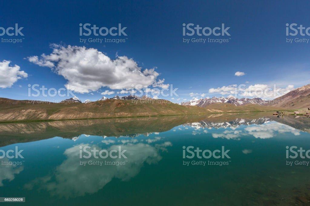 lake chandra tal royalty-free stock photo