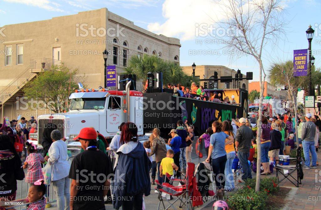Lake Charles Mardi Gras stock photo