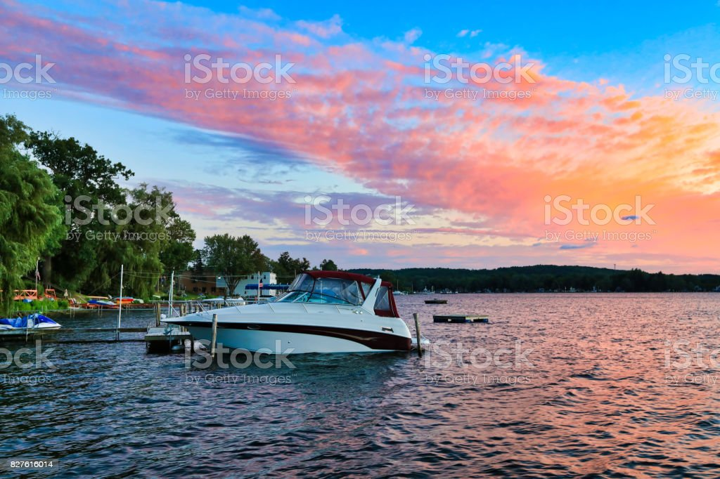 Lake Chautauqua New York tourism stock photo