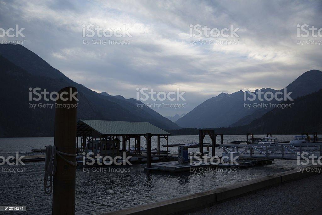 Lake Chelan at Stehekin, WA stock photo