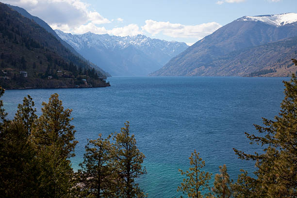 lake chelan - spring stock photos and pictures