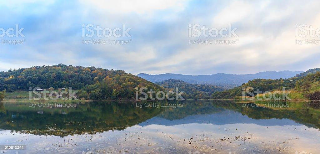 Lake Chenlibel in early autumn.Guba.Azerbaijan stock photo