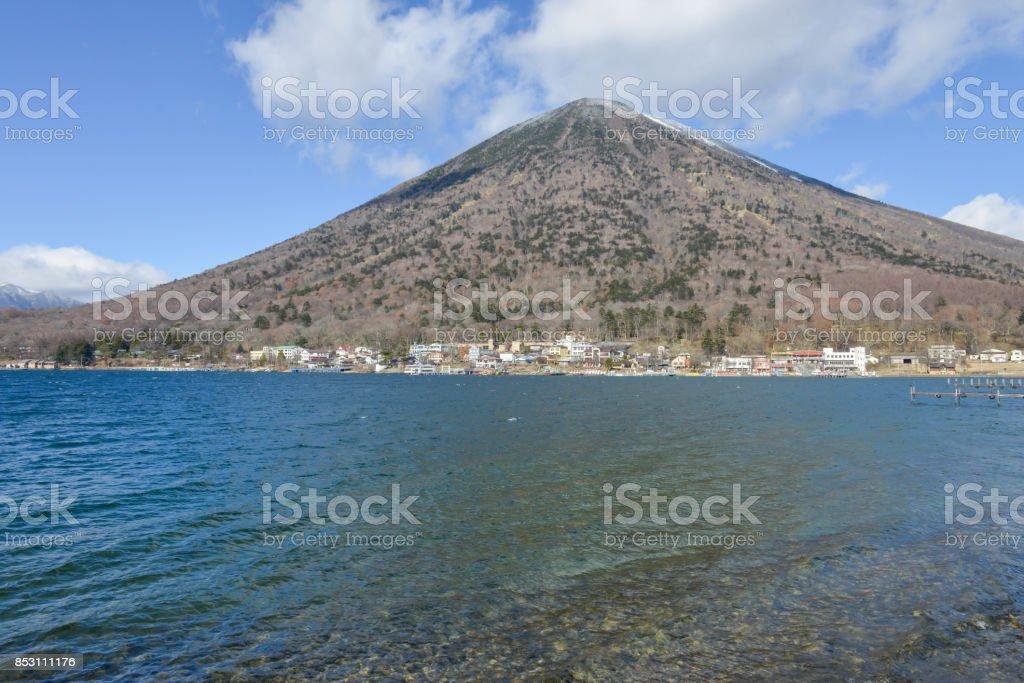 Lake Chuzenji in the Nikko Japan stock photo