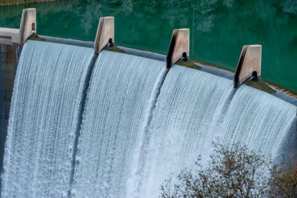 Lake Clementine Dam, Auburn, CA stock photo