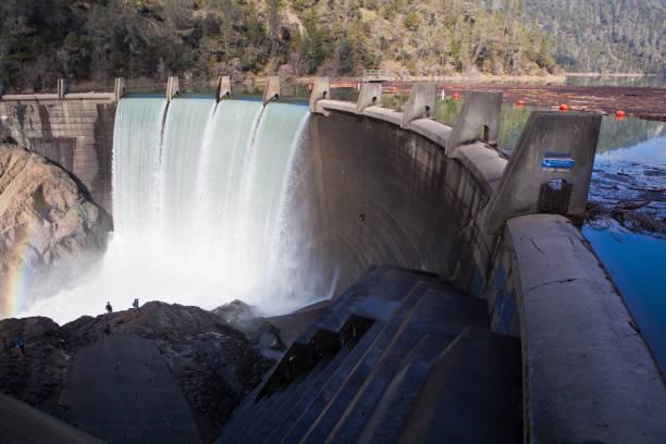 Lake Clementine Dam Overflow stock photo