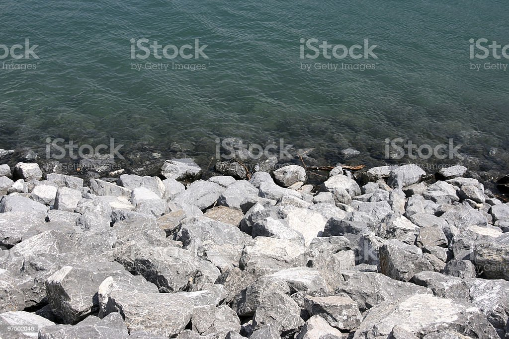 Lake coast royalty-free stock photo