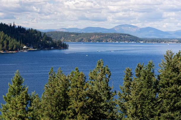 Lake Coeur d'Alene, Idaho stock photo