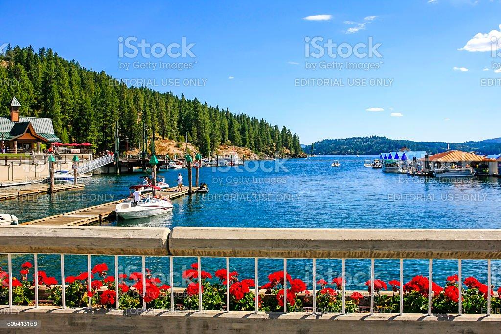 Lake Coeur d'Alene in Idaho stock photo
