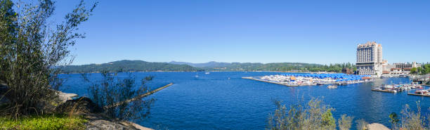 Lake Coeur d'Alene in Summer stock photo