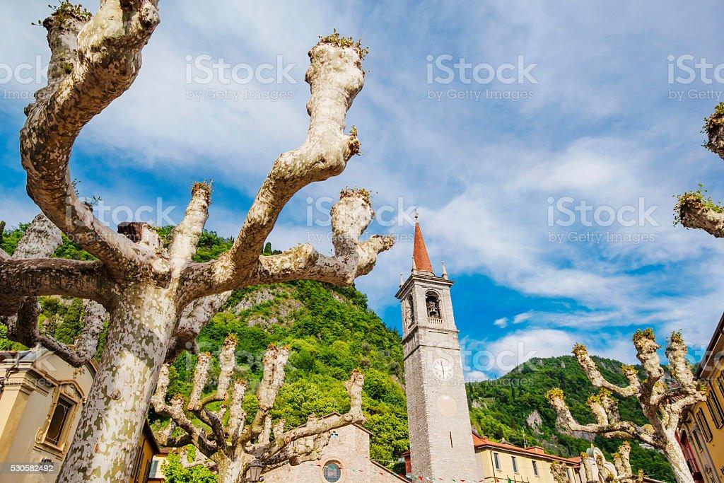 Lake Como district, Varenna town stock photo