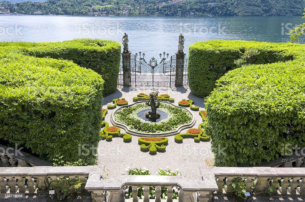 Lake Como Gardens stock photo