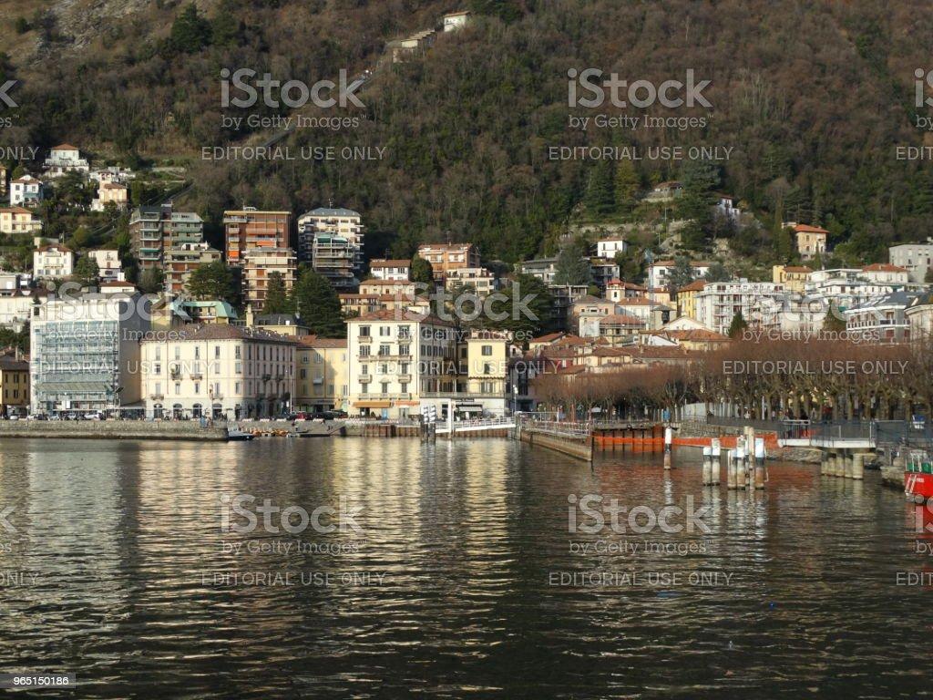 Lake Como in Italy zbiór zdjęć royalty-free