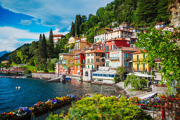 lake como, italy - italy stock photos and pictures