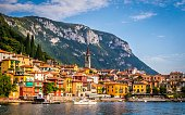 Lake Como in North Italy
