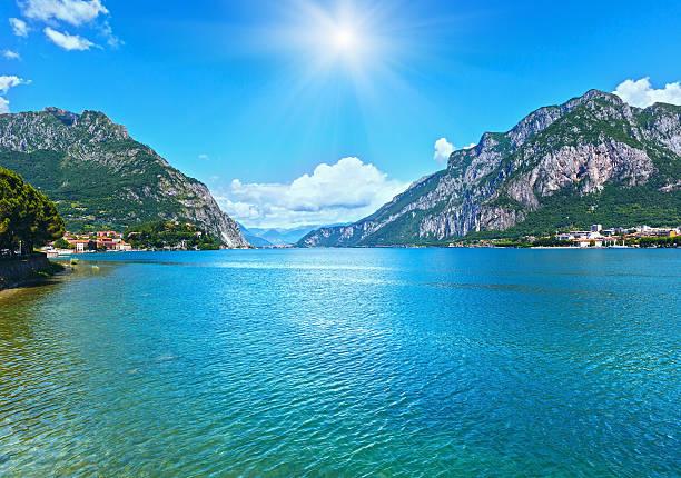 lake como (italy) summer view. - lake como stock photos and pictures