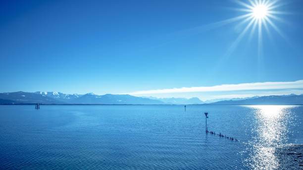 lake constance alps An image of the alps at Lake Constance Bodensee stock pictures, royalty-free photos & images