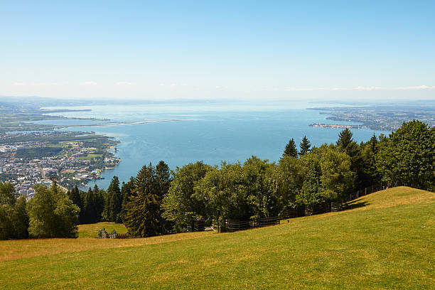 Lake Constance Wide Shot with view over the entire Lake Constance. Bodensee stock pictures, royalty-free photos & images