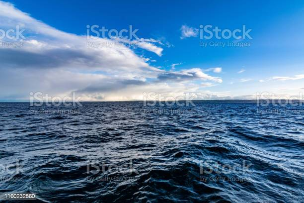 Photo of Lake Constance with blue water and blue sky