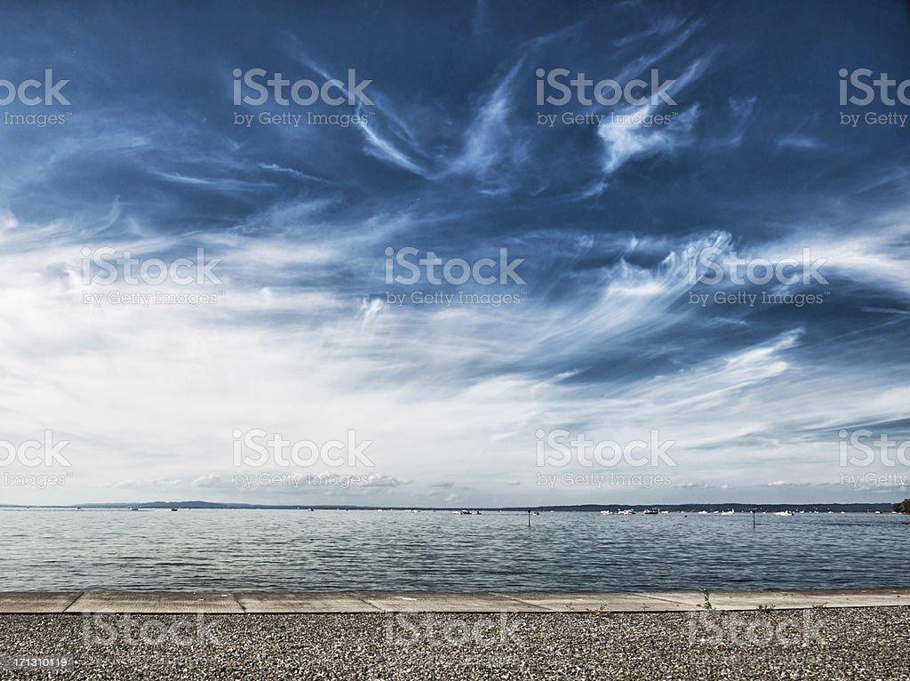 lake constance mit Dramatischer Himmel – Foto