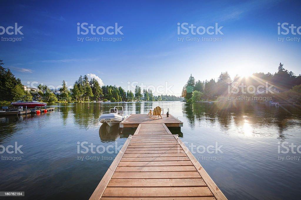 Lake Country Sunset stock photo