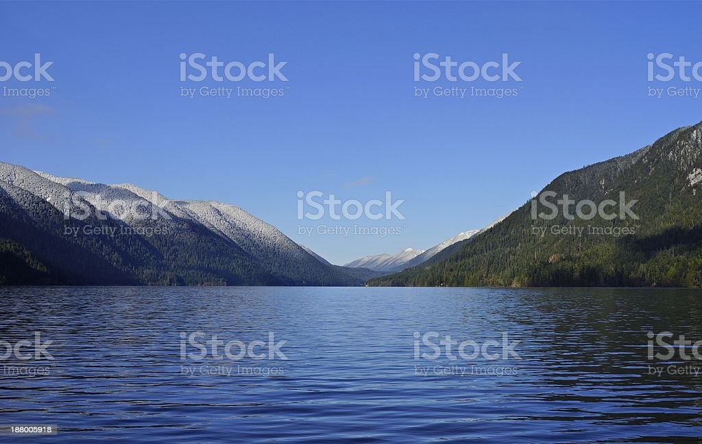Lake Crescent Peaceful stock photo