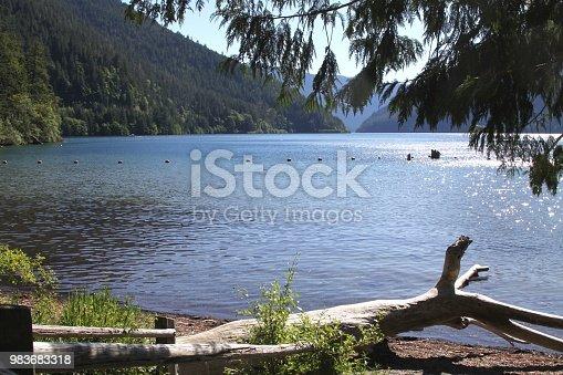 Lake Crescent swimming area in Olympic Natonal Park Washington