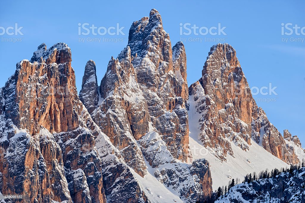 Croda da Lago stock photo