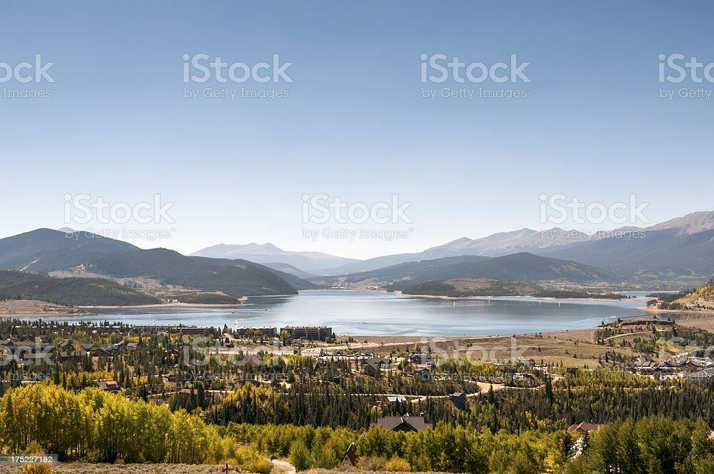Lake Dillon in Summit County, Colorado royalty-free stock photo