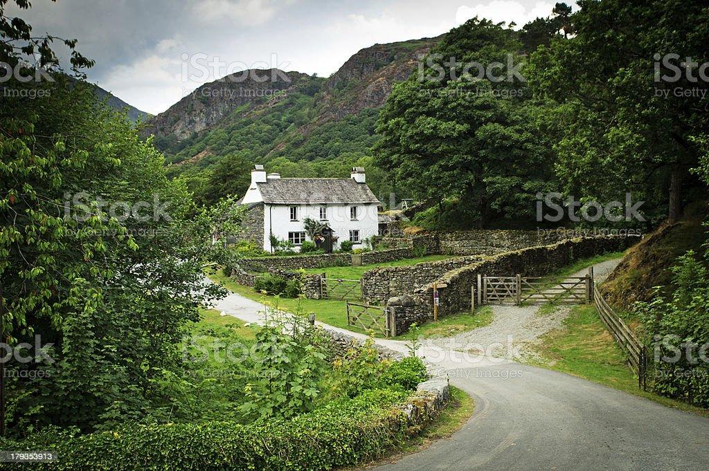 Lake District Cottage or farmhouse stock photo