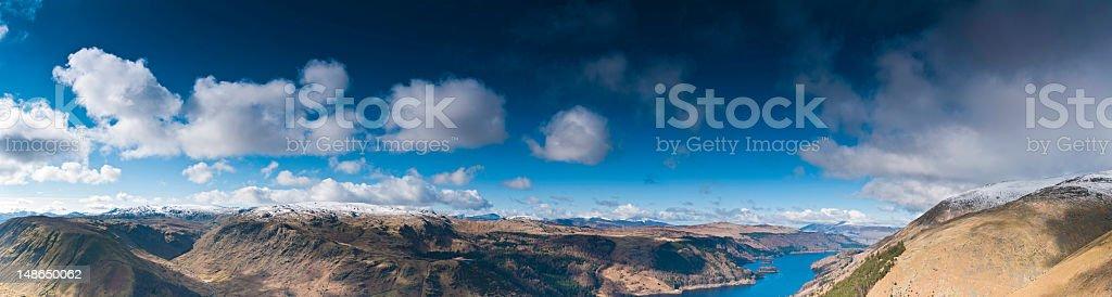 Lake District dramatic mountain panorama big sky cloudscape Cumbria UK royalty-free stock photo