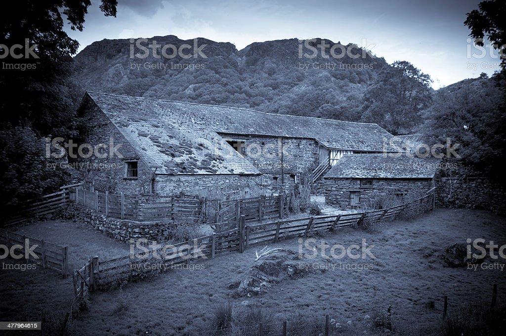 Lake District Farm Buildings stock photo