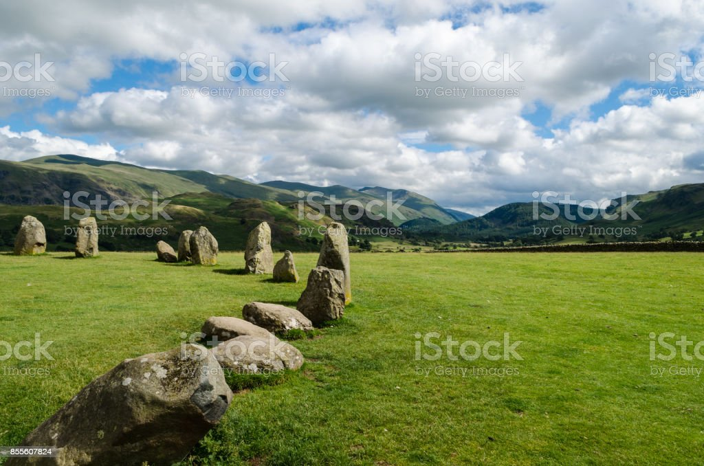 Lake District & Hillside from Castlerigg England. stock photo