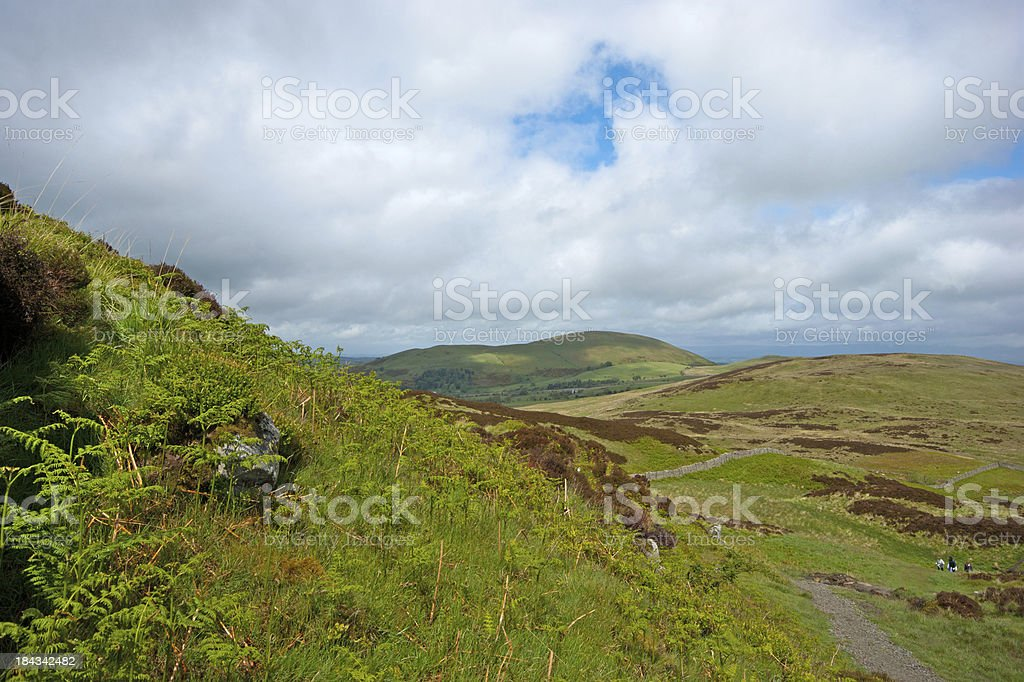 Lake District hilltop royalty-free stock photo