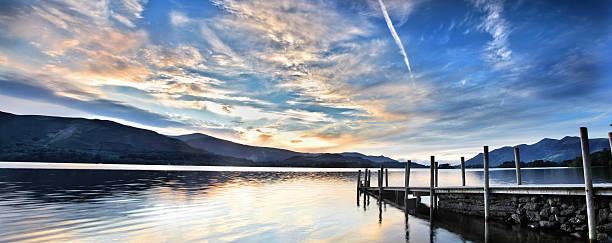Lake district jetty stock photo
