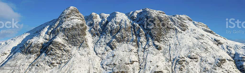 Lake District Langdale Pikes snowy winter peaks panorama Cumbria royalty-free stock photo
