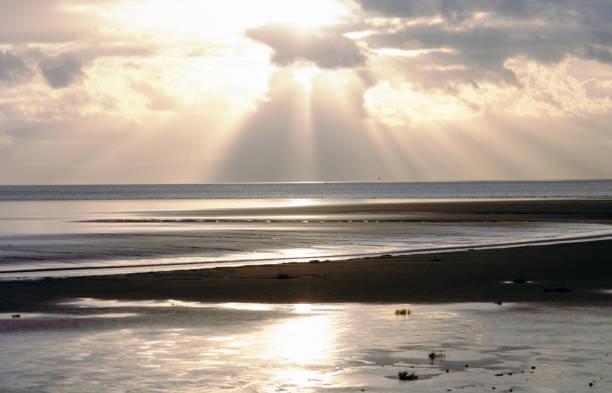 lake district national park cumbria england uk dudgeon estuary - shot on film stock photo