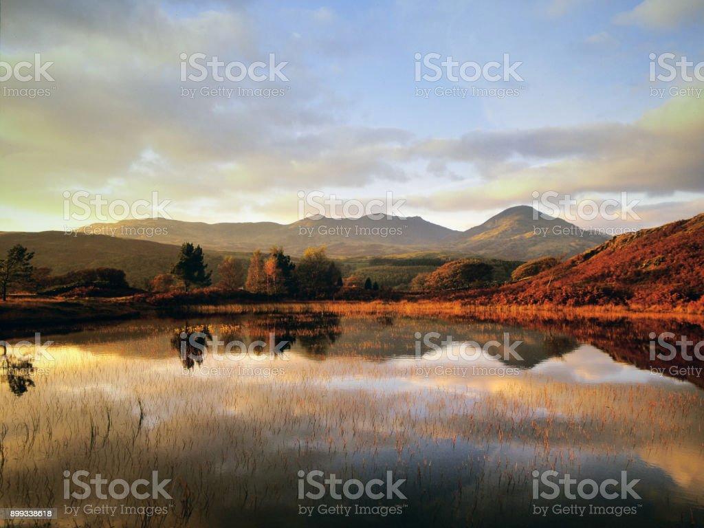 lake district national park cumbria england uk shot on medium format film stock photo