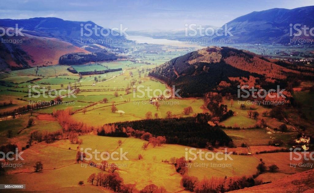 Lake District National Parkblick von pfiffen in der Nähe von Keswick Cumbria England uk - Lizenzfrei Anhöhe Stock-Foto