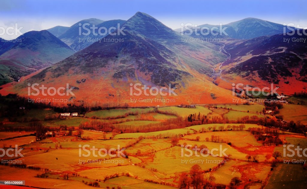 lake district national park view from catcalls near keswick cumbria england uk royalty-free stock photo