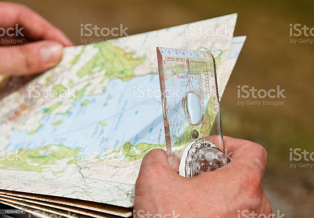 Lake District Orienteering royalty-free stock photo