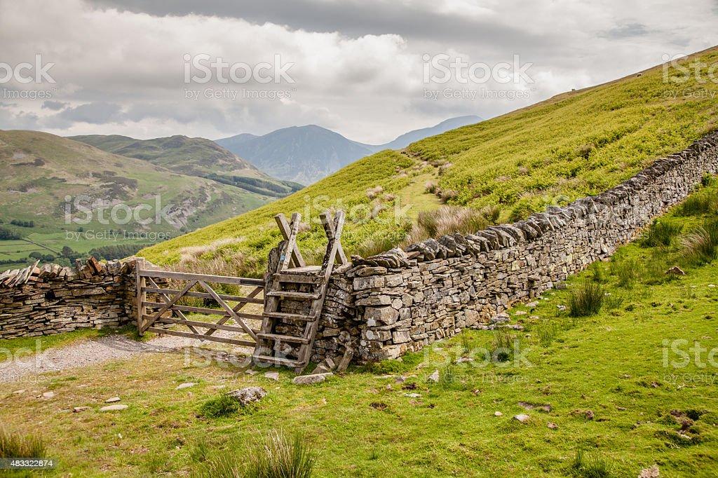 Lake District Path stock photo