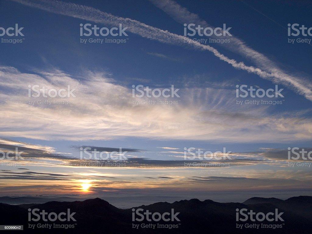Lake District Sunrise No 2 royalty-free stock photo