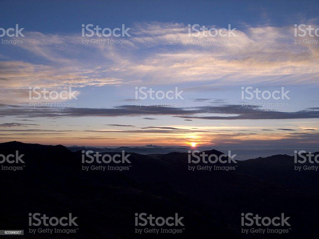 Lake District Sunrise royalty-free stock photo
