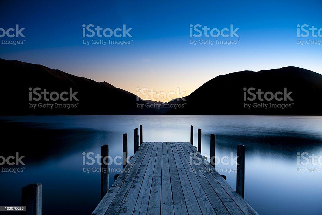 Lake district sunset royalty-free stock photo